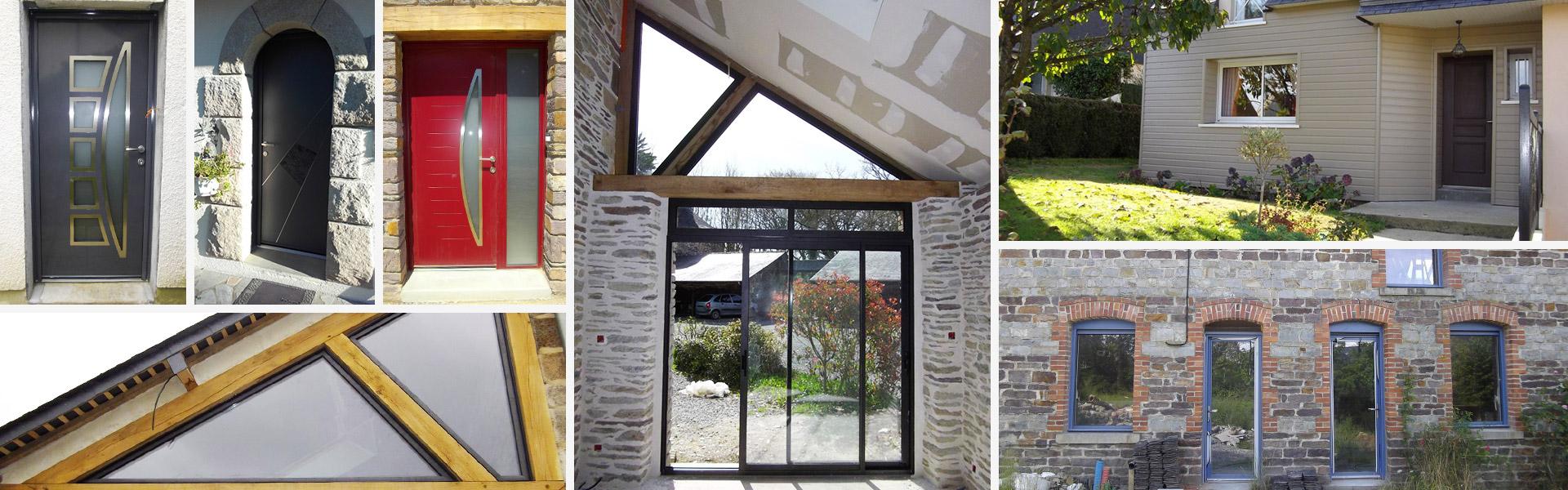 Fenêtres, portes.. un large choix en aluminium, PVC ou bois